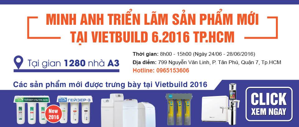 EWS triển lãm giải pháp lọc nước tại Vietbuild 2016