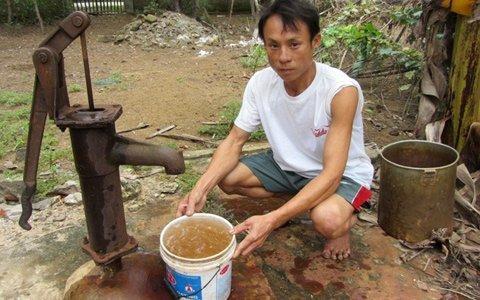 Nước giếng khoan bị nhiễm Asen khá nặng